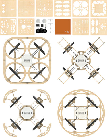 Airwood 4 in 1 Drone Kit with Camera and Program module and 3x Battery - Buy - Pakronics®- STEM Educational kit supplier Australia- coding - robotics