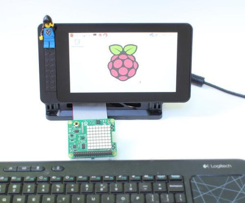 "Smarti Pi Touch LEGO®* Compatible studs on front Touch stand for Pi Foundation PiTFT - 7"" Touchscreen Display - Buy - Pakronics- Melbourne Sydney Queensland Perth  Australia - Educational kit - coding - robotics"