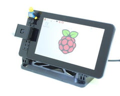 "Smarti Pi Touch LEGO®* Compatible studs on front Touch stand for Pi Foundation PiTFT - 7"" Touchscreen Display - Buy - Pakronics®- STEM Educational kit supplier Australia- coding - robotics"