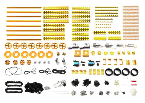 Buy Australia Lab Robot Kit-Gold (No Electronics) , MB_Robot Kits - MakeBlock, Pakronics Melbourne  in Australia - 1