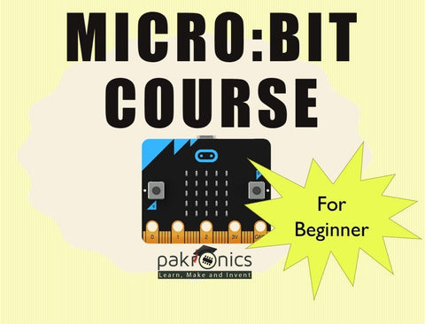 Micro:bit online course 101 for DIYers (e-course) - Buy - Pakronics®- STEM Educational kit supplier Australia- coding - robotics