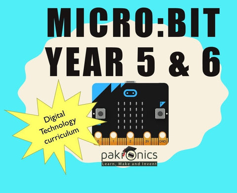 Digi Tech Year 5&6 with Micro:bit for teacher (e-course) - Buy - Pakronics®- STEM Educational kit supplier Australia- coding - robotics