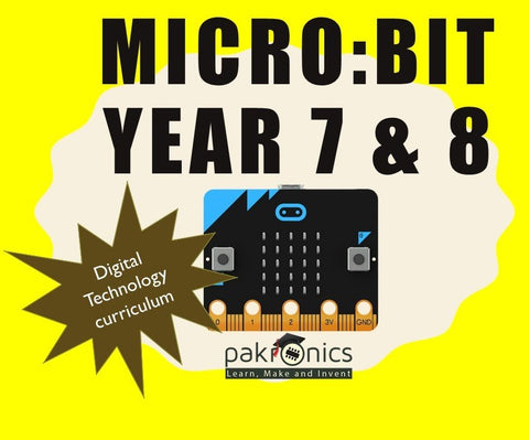 Digi Tech Year 7&8 with Micro:bit for teacher (e-course) - Buy - Pakronics®- STEM Educational kit supplier Australia- coding - robotics