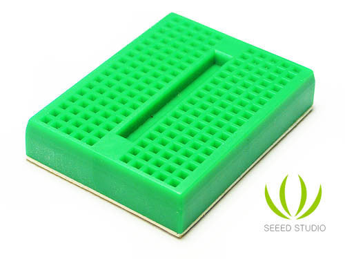 Buy Australia Mini Bread board 4.5x3.5CM-Green , Breadboards - Seeed Studio, Pakronics Melbourne  in Australia