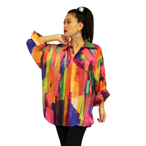 Dilemma Esteve Inspired Art Print Big Shirt in Multi - FRBS-227-EST