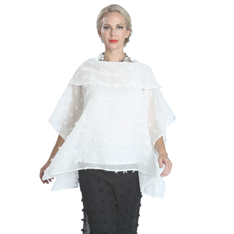 "IC Collection ""Sheer Elegance"" Bateau Neck Tunic - 1167T-WHT"