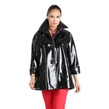 IC Collection Waterproof Mid-Length Jacket in Black - 1172J-BK Sizes L & XL Only