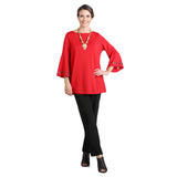 IC Collection Bell Sleeve Tunic Top in Red - 1195T-RD
