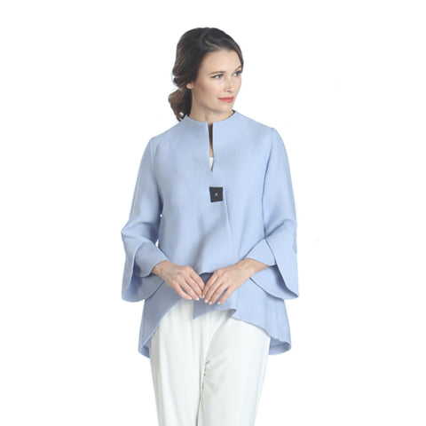 IC Collection Trumpet Sleeve Jacket in Blue -3042J-BLU