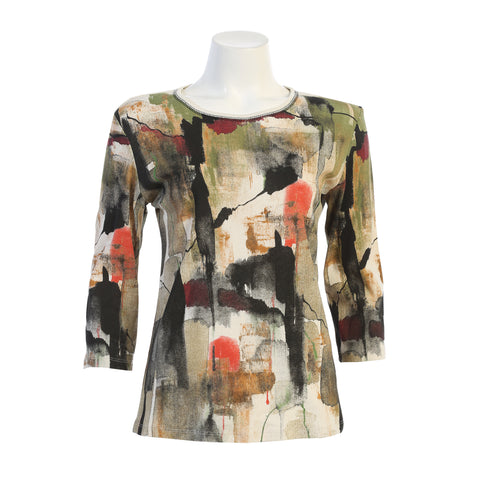 "Jess & Jane ""Natura"" Top in Multi - 14-1431NAT"