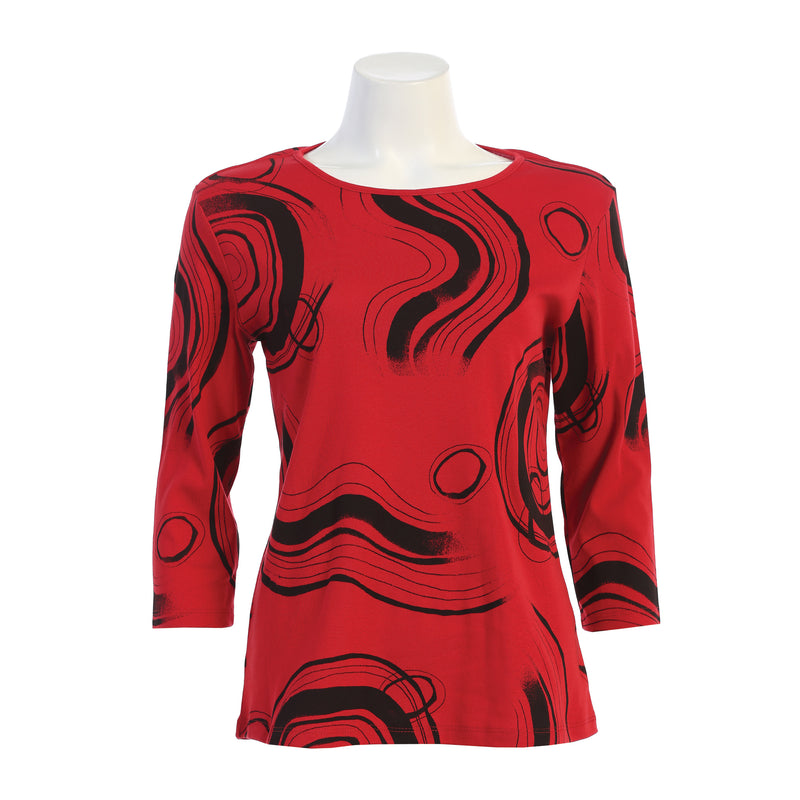 "Jess & Jane ""Valencia"" Top in Red - 14-1534RD"