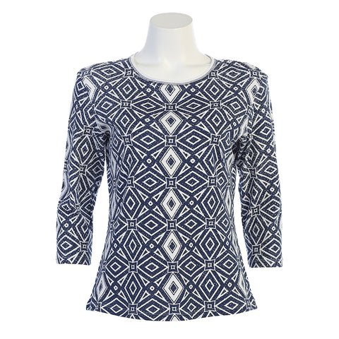 "Jess & Jane ""Geometric"" Top 14-1155WT"