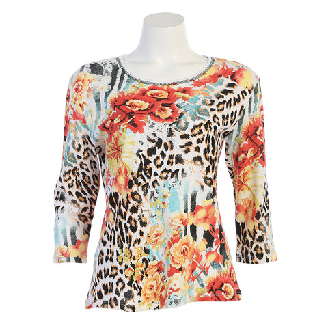 "Jess & Jane ""Animale"" Top in Multi 14-1183WT"