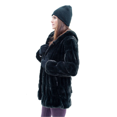 ddfba13b61 Fabulous Fur Onyx Mink Couture Hooded Coat - 14284-ONX – Shop My ...