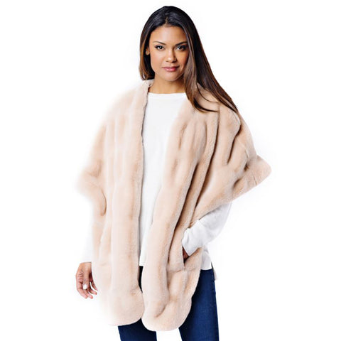 Fabulous Fur Rosé Mink Pocket Shrug -14436-ROS