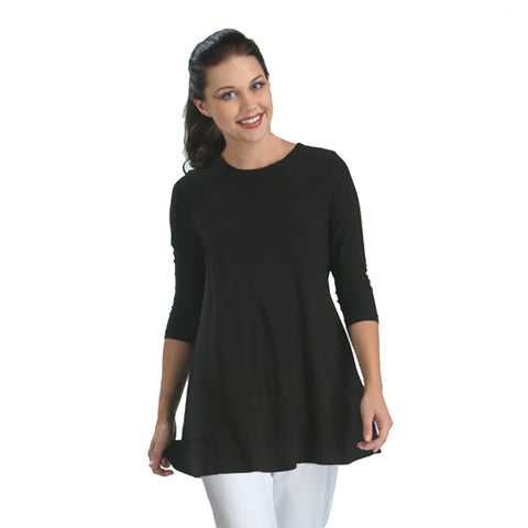 IC Collection Solid Tunic in Black - 1484-BLK