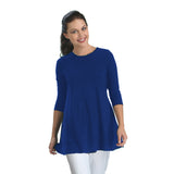 IC Collection Stretch Knit Basic Tunic in Royal Blue - 1484-BLU