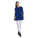 IC Collection Solid Soft Stretch Knit Tunic in Royal Blue - 1484-BLU