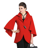 IC Collection One-Button Split Sleeve Jacket in Red - 1513J-RED - Size S Only
