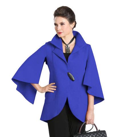 IC Collection One-Button Split Sleeve Jacket in Blue - 1513J-BLU