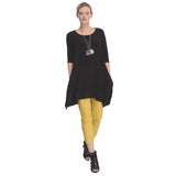 IC Collection Keyhole Back Tunic in Black - 1575T