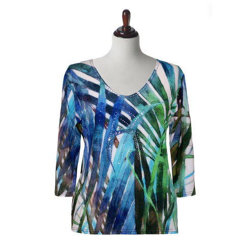 "Valentina Signa Top ""Tropics"" in Multi Color - 17902-8"