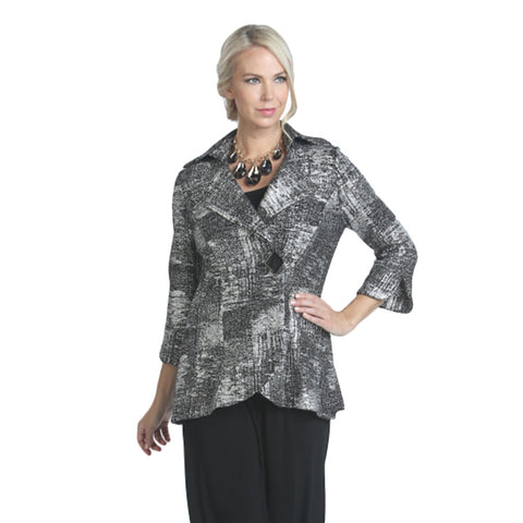 IC Collection Holiday Sparkle Fitted Jacket in Silver - 2966J-SLV