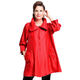 Damee NY Solid Signature Swing Jacket in Red ♥ 200 -RD