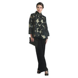 IC Collection Button Front Brocade Jacket in Gold/Black - 2005J-GLD - Size S Only
