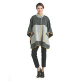 IC Collection Mixed Media Poncho Multi - 2059PC-YLW - Size XXL Only