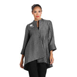 IC Collection Long High-Low Asymmetric Jacket in Grey - 2082J-GRY - Sizes S & L Only