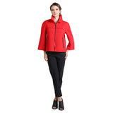IC Collection Zip Front Short Jacket in Red - 2121J-RD Pre-Order