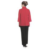 IC Collection Accordian-Back Bell Sleeve Jacket in Red/Black - 2142J-RD - Size XXL  Only