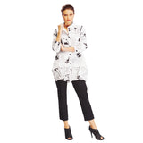IC Collection Newsprint Jacket in Black & White- 2205J