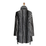 Damee Jacket in Black and White - 2248-BLK