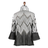 Damee Striped Soutache Jacket - Grey - 2265-GRY - Size L Only