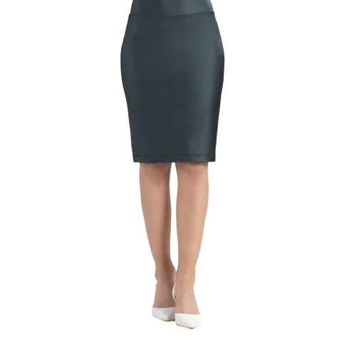 Clara Sunwoo Liquid Leather Pencil Skirt in Black - 22SKL