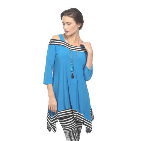IC Collection Cold Shoulder Tunic in Aqua - 2724T-AQ