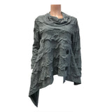 Moonlight Soft Knit Asymmetric Sweater in Grey -  2944