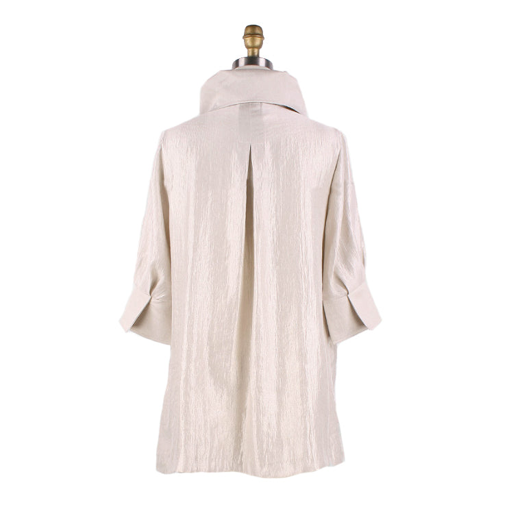 Damee NY Solid Signature Swing Jacket in Champagne ♥ 200 -CMP