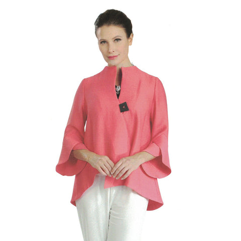 IC Collection Trumpet Sleeve Jacket in Coral - 3042J-COR