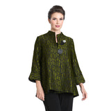IC Collection Jacquard High-Low Jacket in Kiwi - 3104J-KW