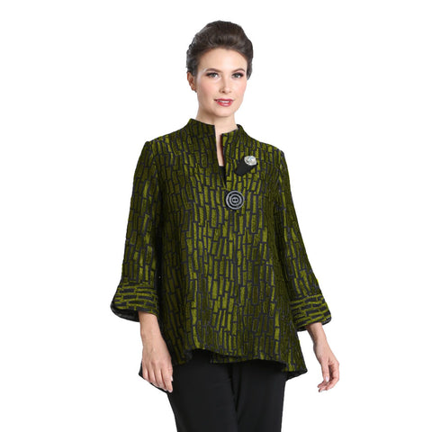 IC Collection Geo High-Low Jacket in Kiwi - 3104J-KW