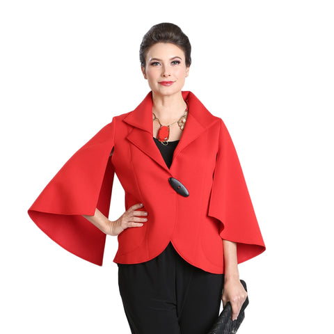 IC Collection Split Sleeve Jacket in Red - 3132J-RD