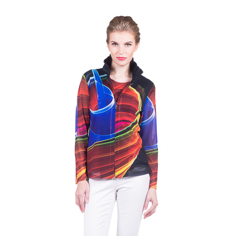 Damee Abstract Print Twin Set in Multicolor - 31371-MLT