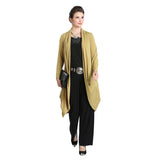 IC Collection Open Front Cardigan in Mustard - 3138J-MST - Size L Only
