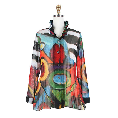 Damee Abstract Print Twin Set in Multicolor - 32182