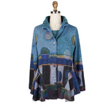 Damee NYC Abstract Fit & Flare Twin Set in Blue/Multi  32197-BLU - Sizes S & M
