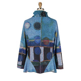 Damee NYC Abstract Fit & Flare Twin Set in Blue/Multi  32197-BLU