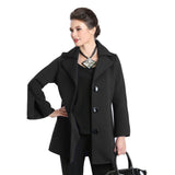 IC Collection Button Front Jacket in Black  3304J-BK - Size M Only